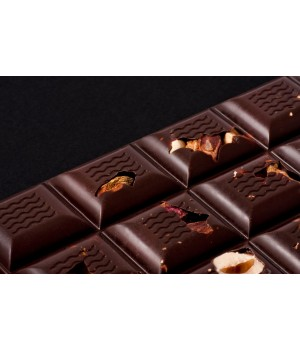 Tavoletta Cioccolato Fondente (65% cacao min.) con Frutta Secca 100g